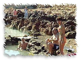 Visitors Enjoying the Hot Springs.